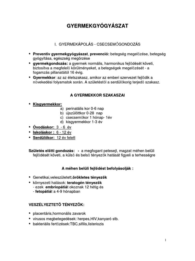 helmint kezelés 3 év alatti gyermekeknél)