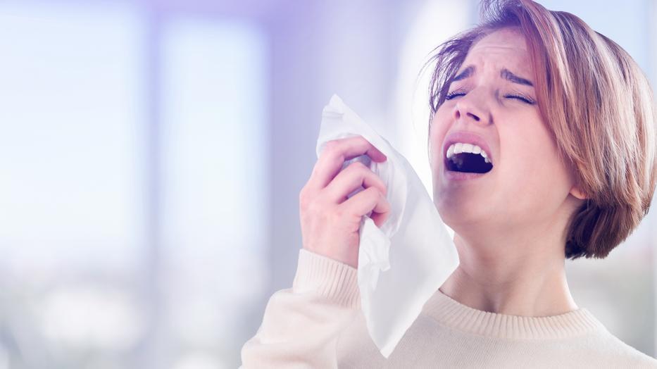 tüsszentés után