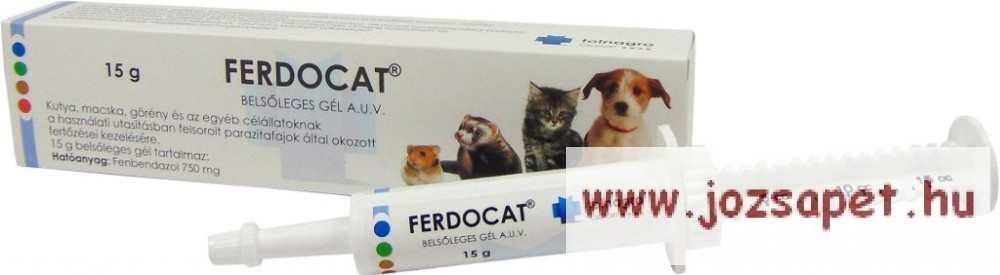 Ferdocat fereghajto tabletta. Ferdocat belsőleges gél A.U.V.